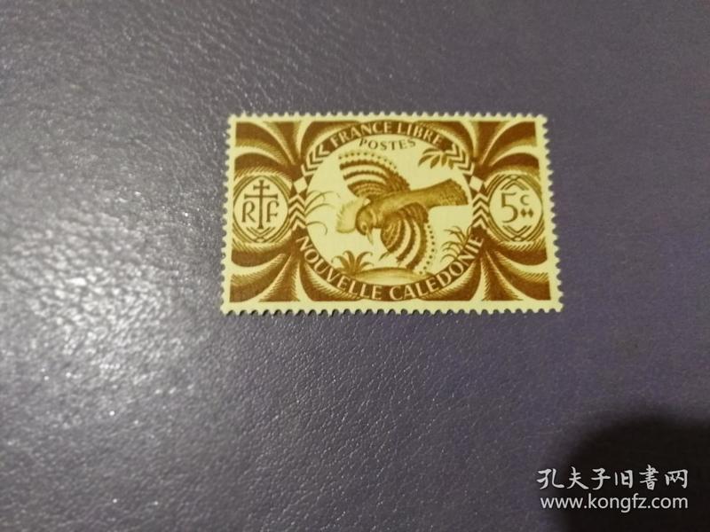 法属新喀里多尼亚 1942年 二战自由法国 卡古鸟(无邮戳新票)
