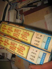 中华膳海(全二册)包括历朝历代的著名饮食及做法(16开精装本
