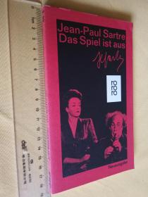 德文原版 萨特 Der Spiel ist Aus.Jean-Paul Sartre (les jeux sont faits)