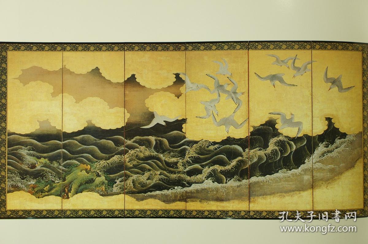 日本传统绘画_全彩极致印刷 十二万日元 日本古代花鸟人物 风景民俗绘画