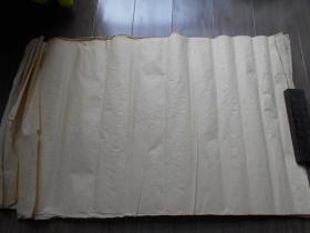 老纸头【元书纸37张】纸较薄。尺寸:77.5×48厘米