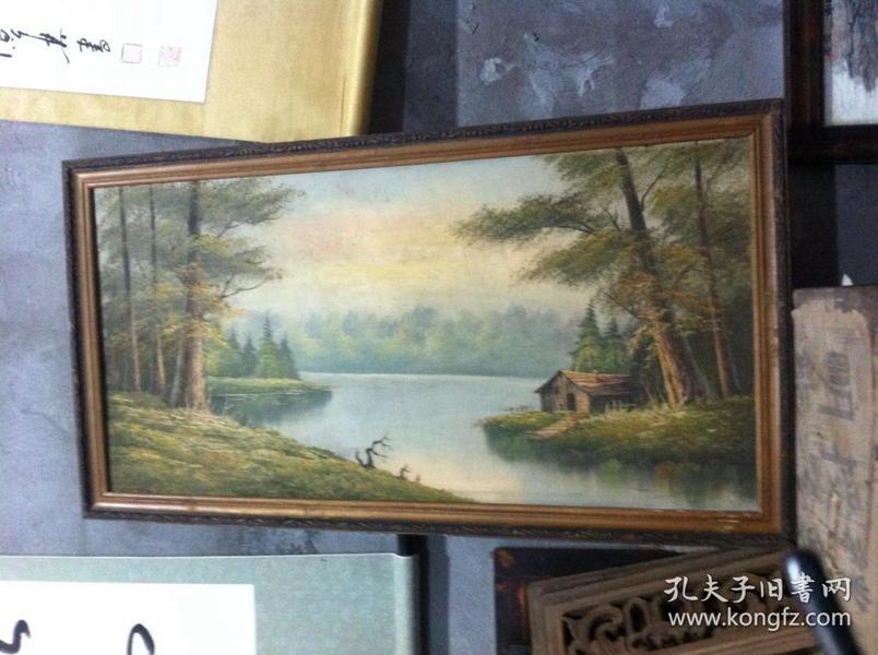 刚收来的老油画- 100厘米*50厘米。。。。。。