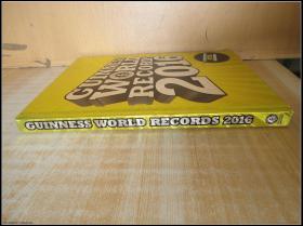 精装16开 厚册《GUINNESS WORLD RECORDS 2016  2016年吉尼斯世界纪录》见图