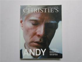 CHRISTIES 2012 ANDY WARHOL;THE NEXT CHAPTER GERARD DEPARDIEU;HIS SECRET ATELIER FRED TOMASELLI;THE PUNK YEARS