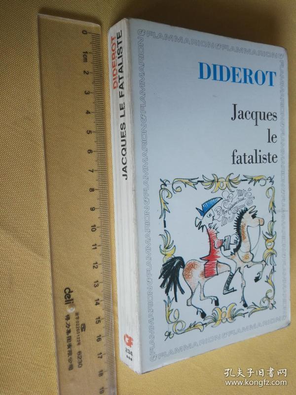 法文原版 狄德罗《宿命论者雅克和他的主人》 Jacques Le Fataliste ET SON MAITRE by Diderot