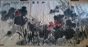 """具潜力实力派画家,中国书画院副院长张立昕""""和合万年""""花鸟画(特大幅)"""