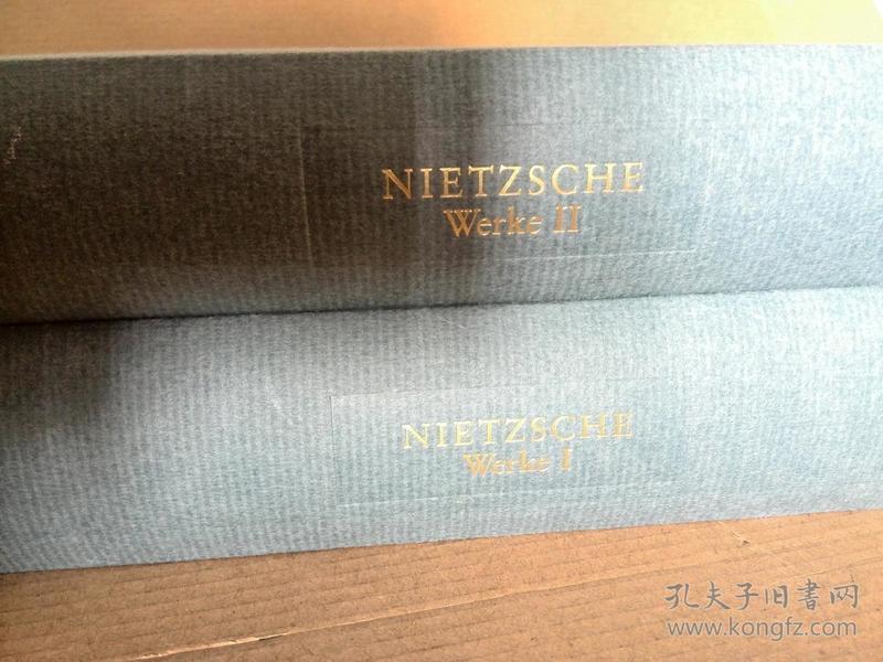 Friedrich Nietzsche / Werke in zwei Bänden《尼采作品集》(两卷全) 德文原版 精装