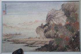 1984年二玄社(58*40CM):清王翚 红林秋霁图