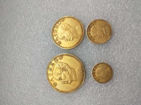 以前收的纯金币一套,行家来