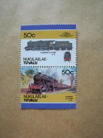 外国邮票 图瓦卢火车邮票Nukulaelae 2枚(甲16-5)