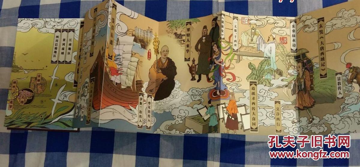 丝绸之路手绘长卷图片
