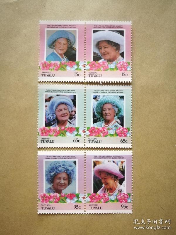 外国邮票 图瓦卢邮票Vaitupu 6枚(甲17-1)