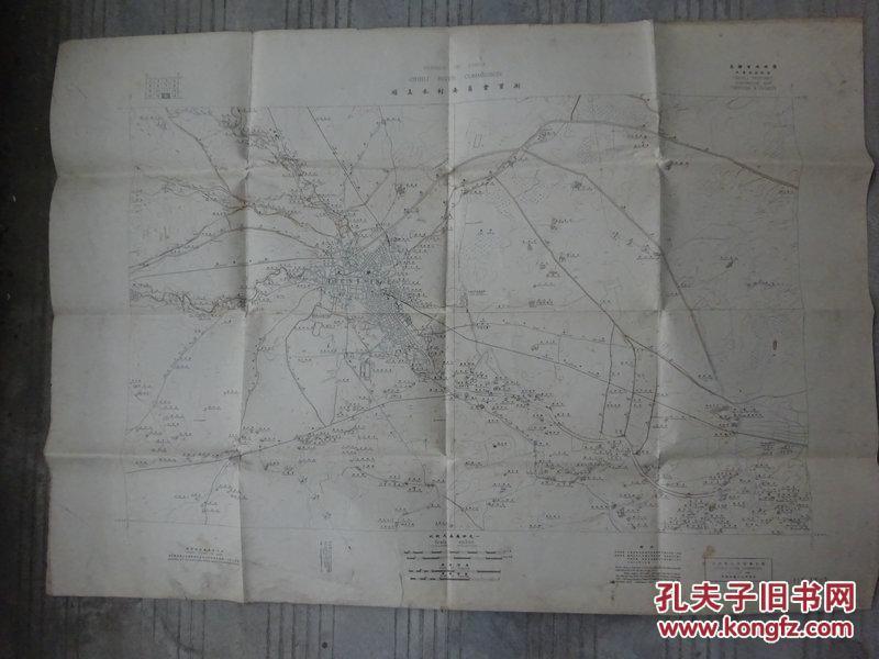 民国十五年《直隶省地形图》(天津及其附近)又名:顺直水利委员会实测