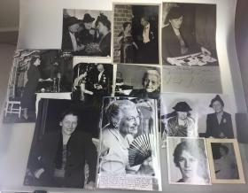 【赛珍珠纪念馆】【原版照片】赛珍珠,1938年,斯德哥尔摩诺贝尔颁奖典礼等,一组11张,大幅照片/Pearl S. Buck