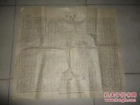 中华民国二十八年八月缩图三十一年八月复制福建省建瓯县建阳县水吉县《建瓯县》地图一张48CM*56CM