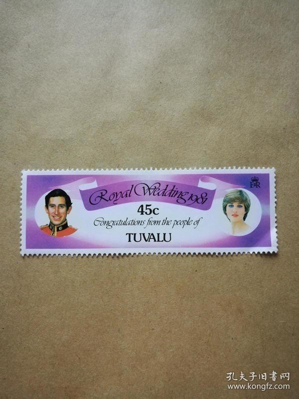 外国邮票 图瓦卢邮票 1枚(甲17-3)