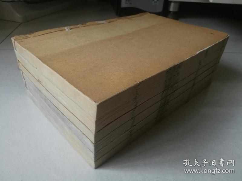 清同治晚期或光绪早期 上乘白宣仿汲古阁精刻本  汉书 巨厚六册 开本宏大 品佳如图  惜存卷19~54