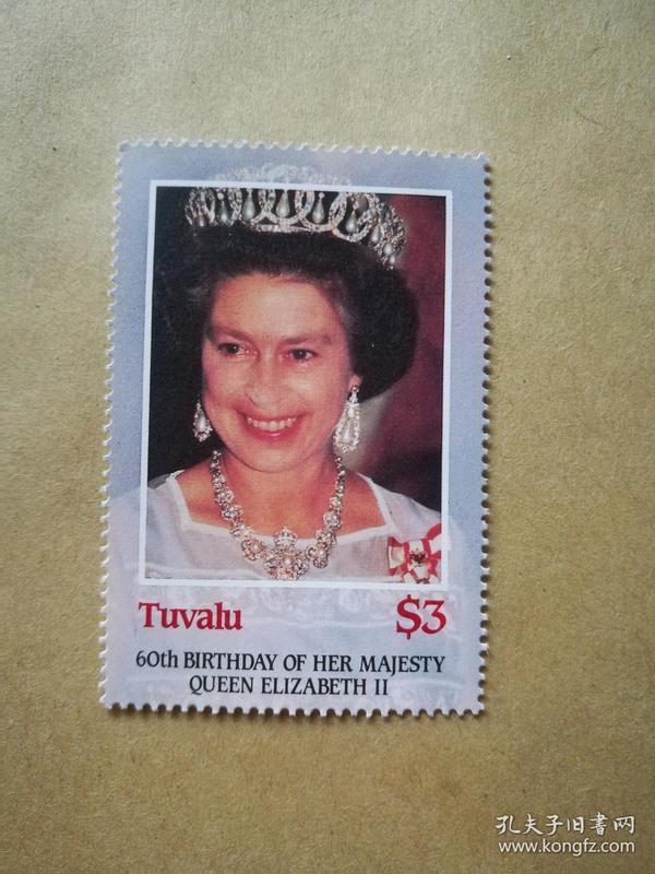 外国邮票 图瓦卢邮票 1枚(甲17-4)