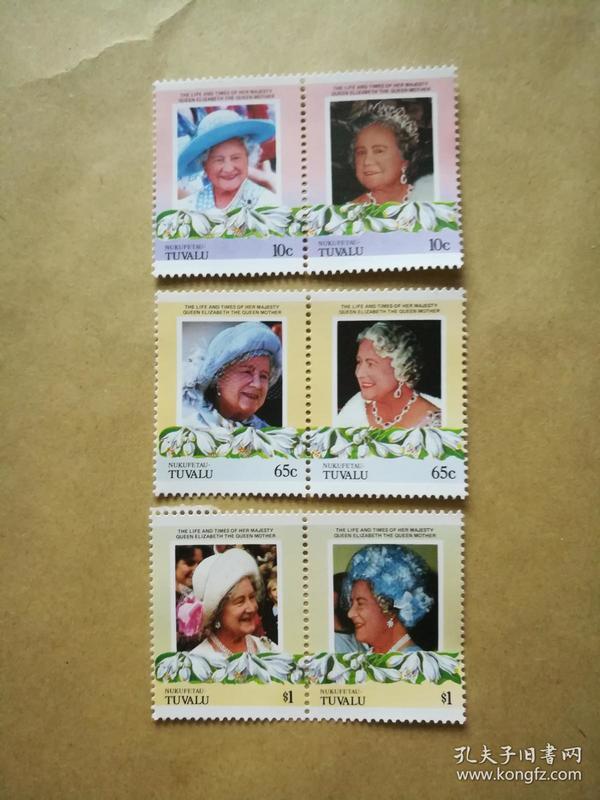 外国邮票 图瓦卢汽车邮票Nukufetau 6枚(甲17-5)