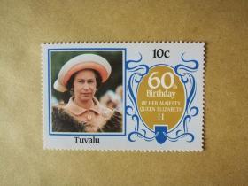 外国邮票 图瓦卢邮票1枚(甲17-5)