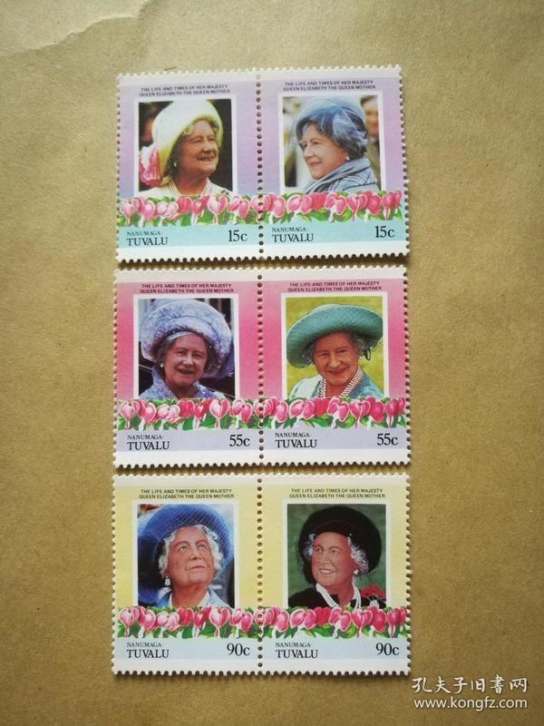 外国邮票 图瓦卢邮票Nanumaga 6枚(甲17-6)