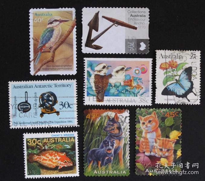 澳大利亚邮票----混合邮票(信销票)