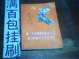 第二次全国青年社会主义建设积极分子大会文件1958年