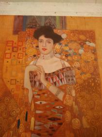 /.《美丽的皇后》油画70*80纯手绘的.