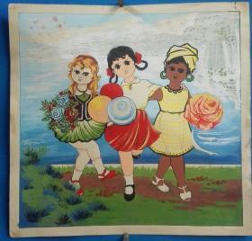 1970年代南京手帕厂手绢原画稿