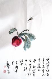 江苏花鸟名家  张继馨  (草虫)花鸟二尺中堂 水墨 国画装饰收藏