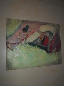 著名油画家顾祝君 早期油画写生:《少年与蝴蝶》