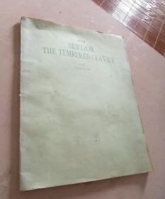 BENTZON THE TEMPERED CLAVIER 本特松平均律钢琴曲集