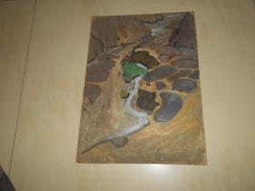 著名油画家顾祝君 早期油画写生:《溪流欢唱卵石间》