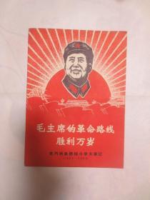 毛主席的革命路线胜利万岁(林彪题词合影全)等 2 本合售
