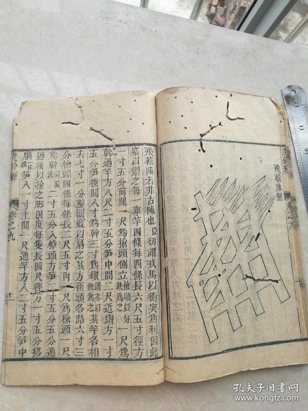 稀见兵法书,虎钤经卷六七八九,四卷合订
