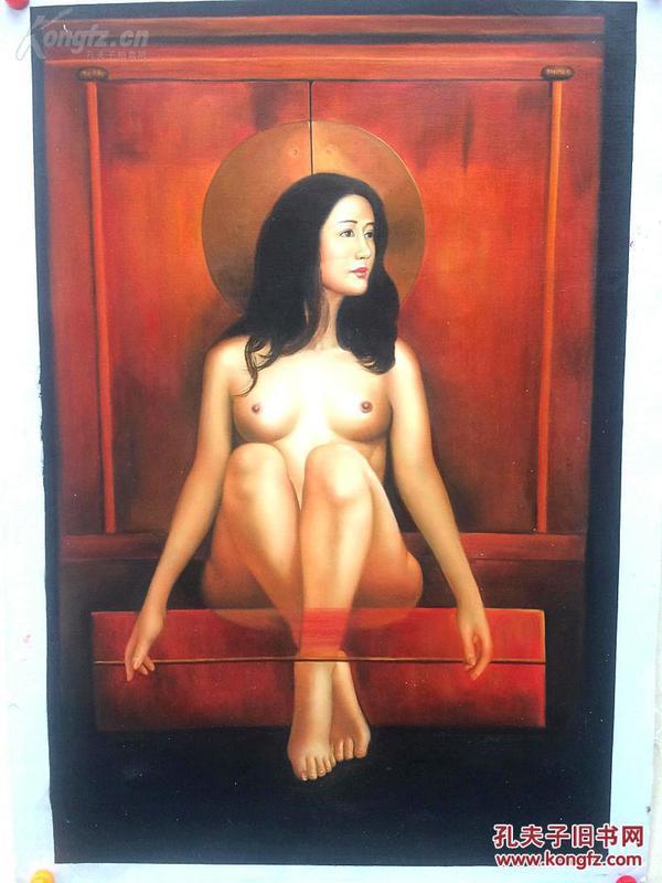 .性感妩媚,柔情万种.女人体油画90/60值得珍藏纯手绘,