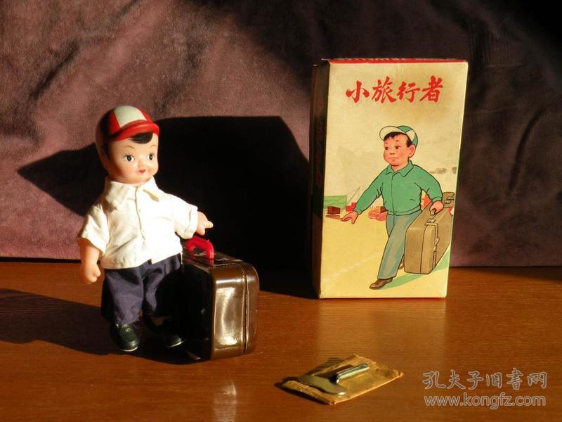 60年代 经典铁皮玩具小旅行者 发条铁皮玩具
