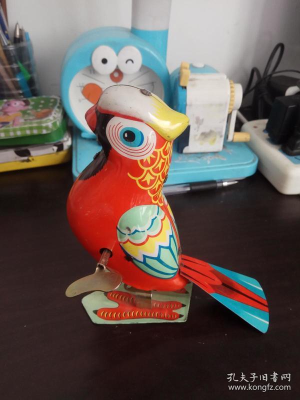 八十年代老铁皮玩具 铁皮鹦鹉