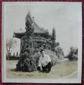 老照片:1955年,长沙烈士陵园——【湖南长沙印尼归国华侨——罗汝荣,广州→长沙学习、工作、生活系列】