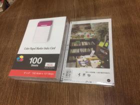 方形条格纸  15.2cm x 10.1cm  100张 紫红色   【良伴精选文具】