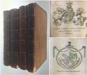 1761年1版1印《好逑传》英文版, 中国小说的第一个英译本/4卷全/ Hau Kiou Choaan, or The Pleasing History