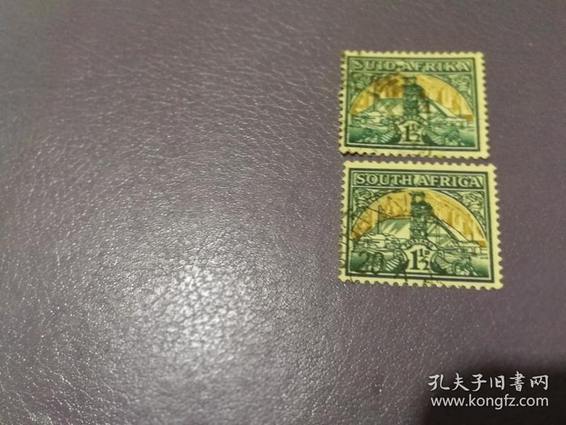 南非邮票1936年采矿2枚(信销票)