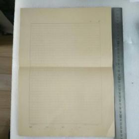 8开 老稿纸;中国科学院科学情报研究所稿纸(5张空白)