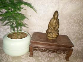 《民国 观世音菩萨坐像》合模铸造,慈悲和睦!高12.9厘米,宽6厘米,保老!