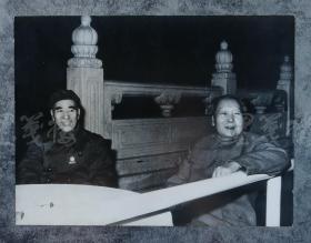 毛主席和林彪 老照片   HXTX100738