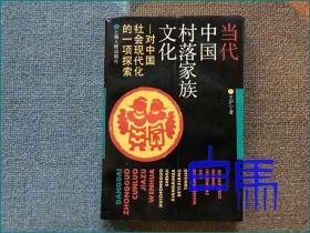 王沪宁 当代中国村落家族文化 对中国社会现代化的一项探索 1992年再版 有瑕疵