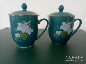 80年代宣化二瓷厂老瓷杯一对·老货水杯·随手杯·包老.