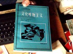 文化唯物主义(二十世纪文库) 差不多九品     BB