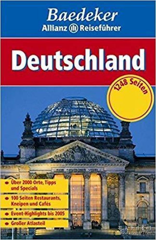 德语原版书 Deutschland (Baedeker Allianz Reiseführer) Taschenbuch – 2004 德文版 德国旅游旅行指南