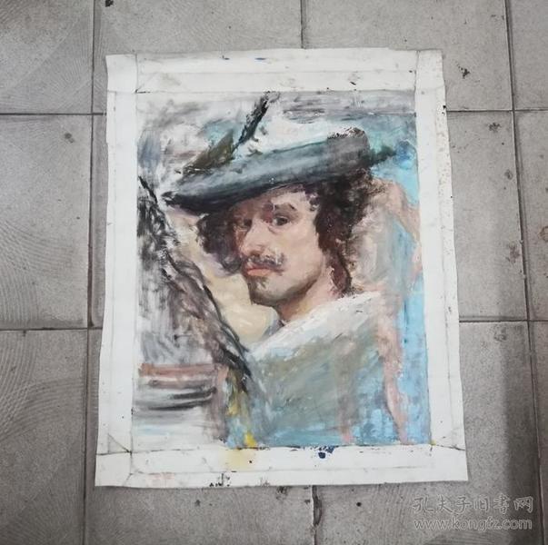 加勒比海盗*精美手绘旧油画